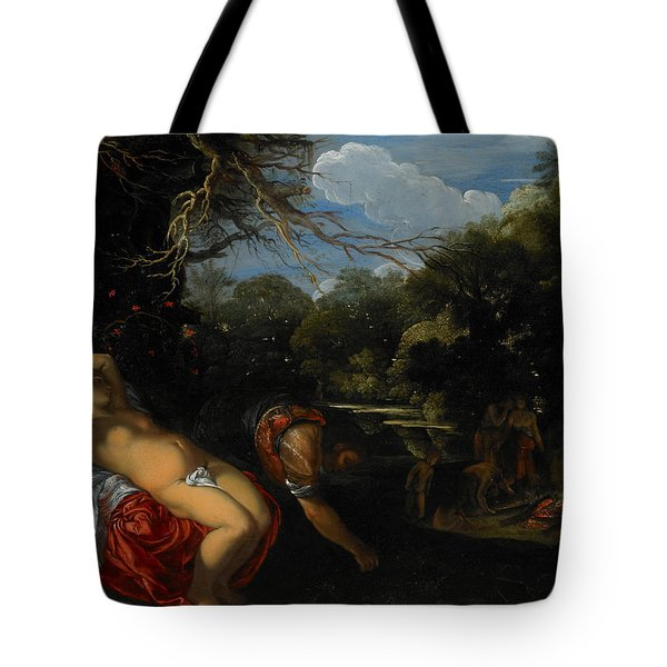 Apollo And Coronis Tote Bag by Adam Elsheimer