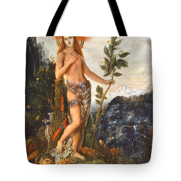 Apollo Receiving The Shepherds Offerings Tote Bag by Gustave Moreau
