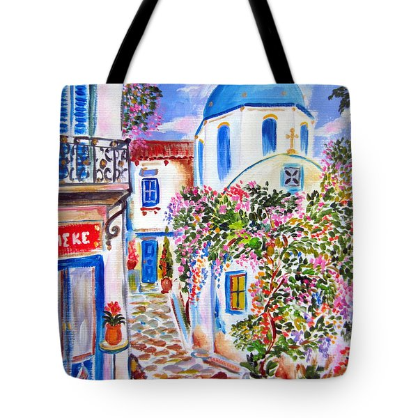 Apotheke In The Greek Island Tote Bag