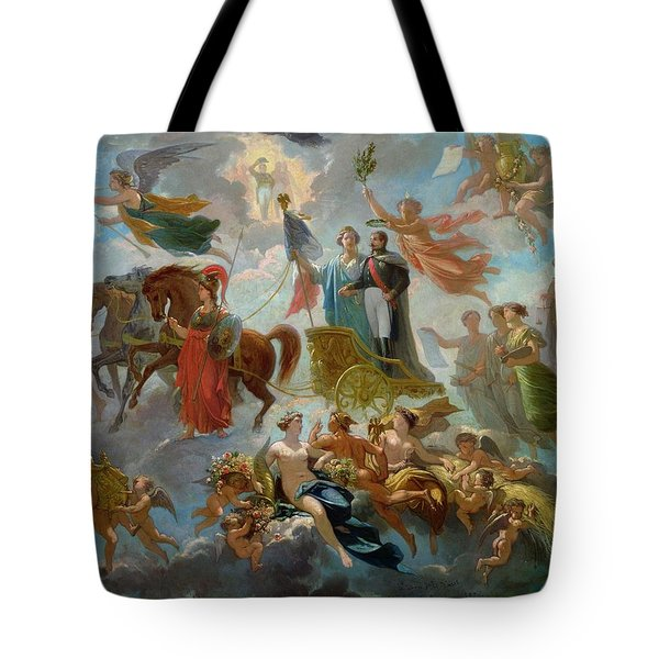 Apotheosis Of Napoleon IIi Tote Bag by Guillaume-Alphonse Harang Cabasson