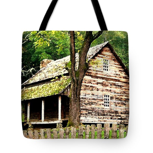 Appalachian Cabin Tote Bag by Desiree Paquette