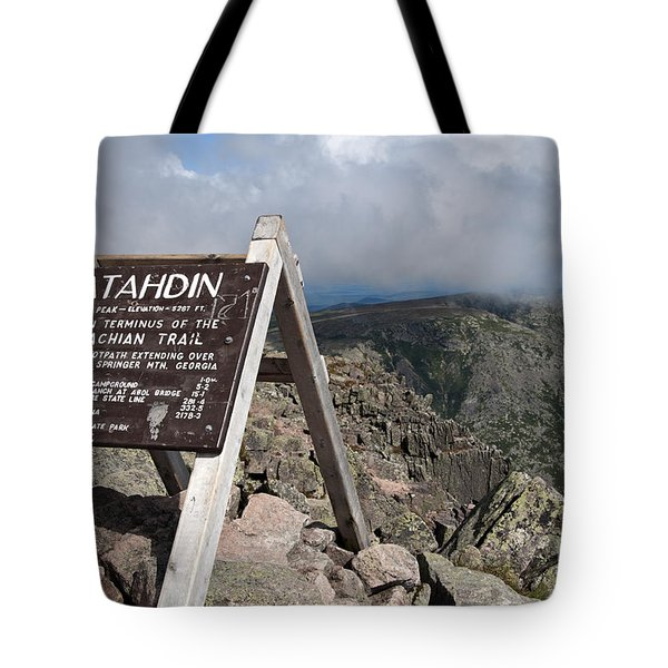 Appalachian Trail Mount Katahdin Tote Bag