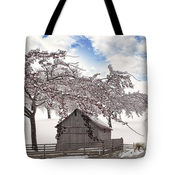 Tote Bag featuring the digital art Apparition by Liane Wright
