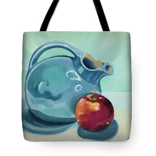 Apple And Ball Pitcher Tote Bag