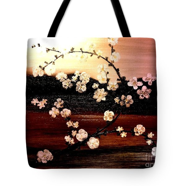 Apple Blossom Time Tote Bag by Denise Tomasura