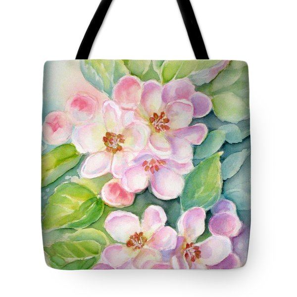 Apple Blossoms 1 Tote Bag by Inese Poga