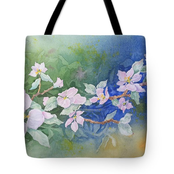 Apple Blossoms 2 Tote Bag by Christine Lathrop