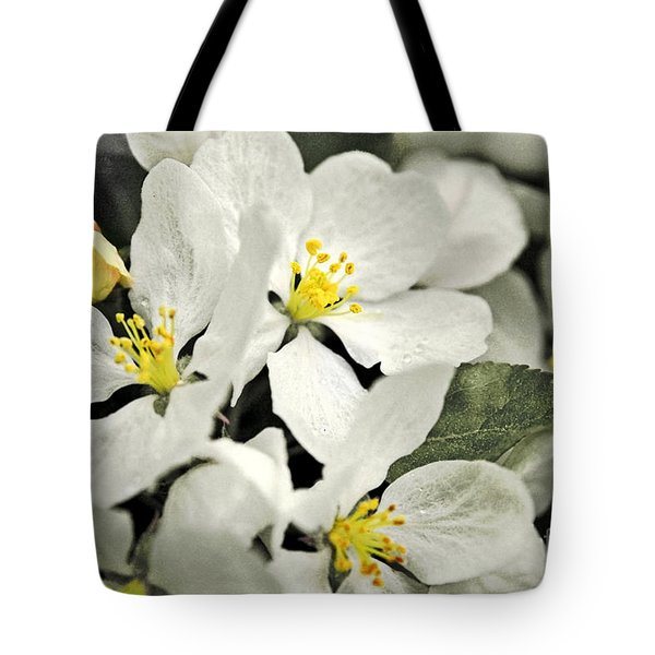 Tote Bag featuring the photograph Apple Blossoms by Alana Ranney