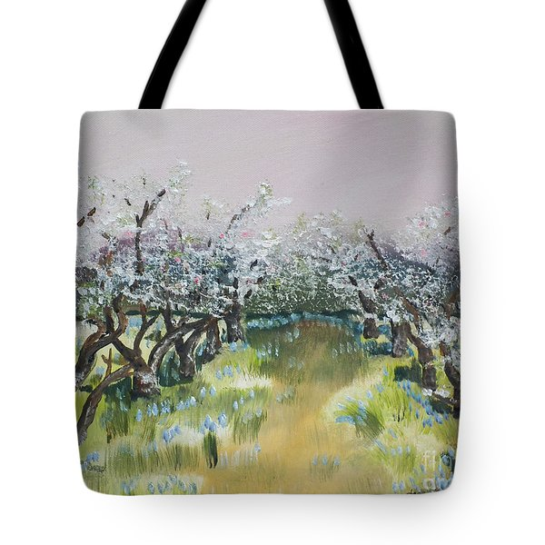 Apple Blossoms In Ellijay -apple Trees - Blooming Tote Bag