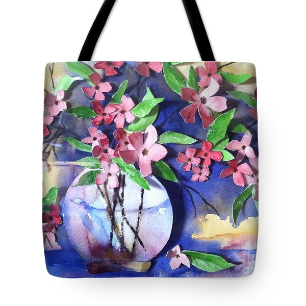 Apple Blossoms Tote Bag by Sherry Harradence