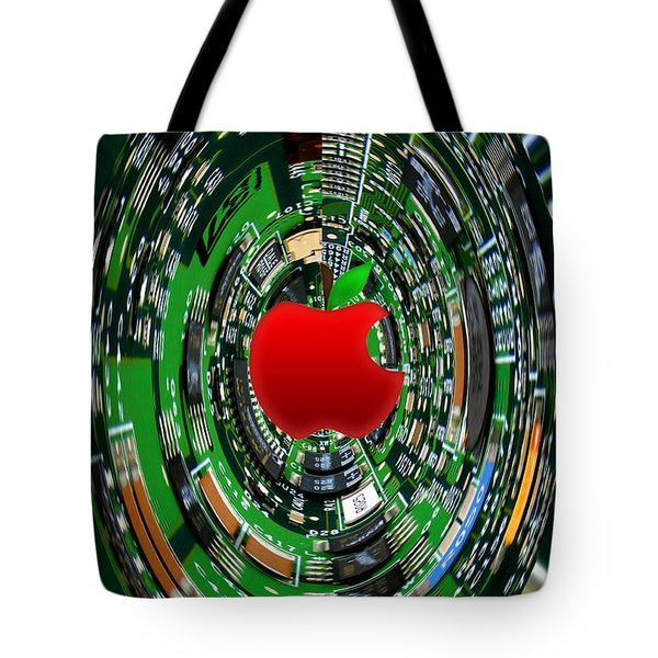 Apple Computer Abstract Tote Bag by Sandi OReilly