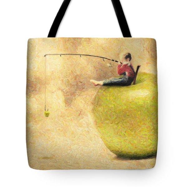 Apple Dream Tote Bag by Taylan Apukovska