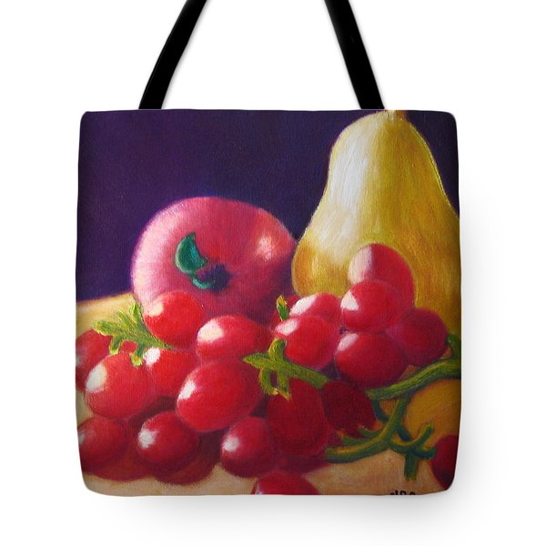 Apple Pear Grapes Tote Bag