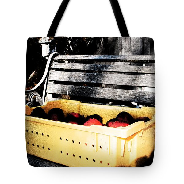 Tote Bag featuring the photograph Apple Picking by Meaghan Troup
