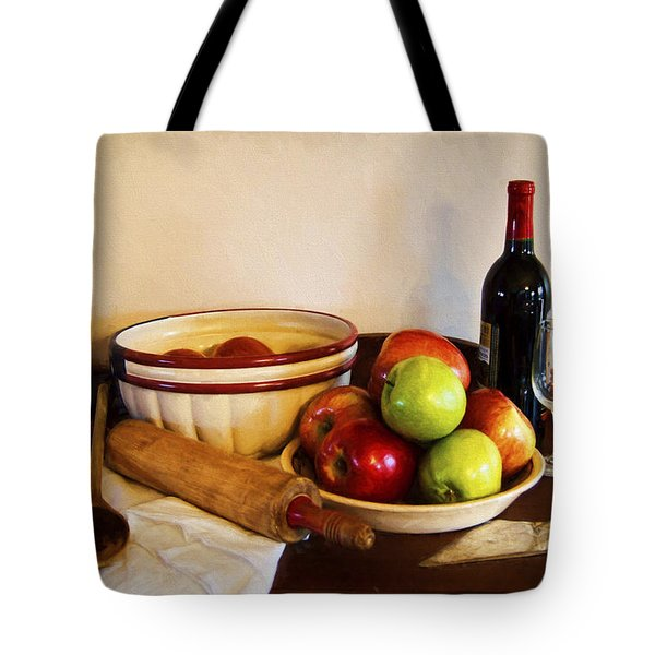 Apple Pie Impressions Tote Bag