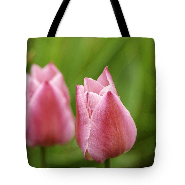 Apple Pink Tulips Tote Bag