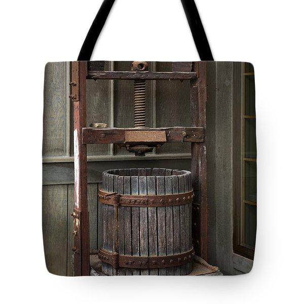 Apple Press Tote Bag by Dale Kincaid