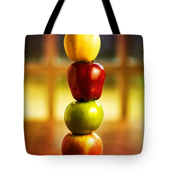 Apple Stack Tote Bag