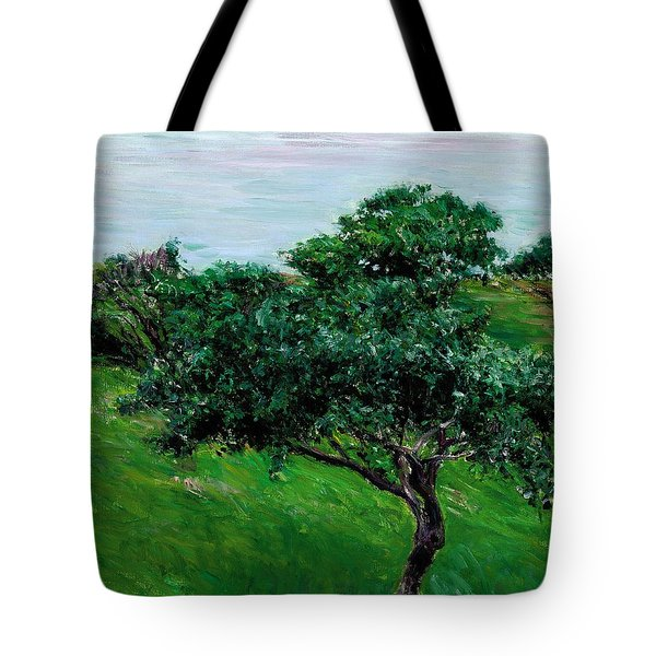 Apple Trees By The Sea Trouville Tote Bag by Gustave Caillebotte