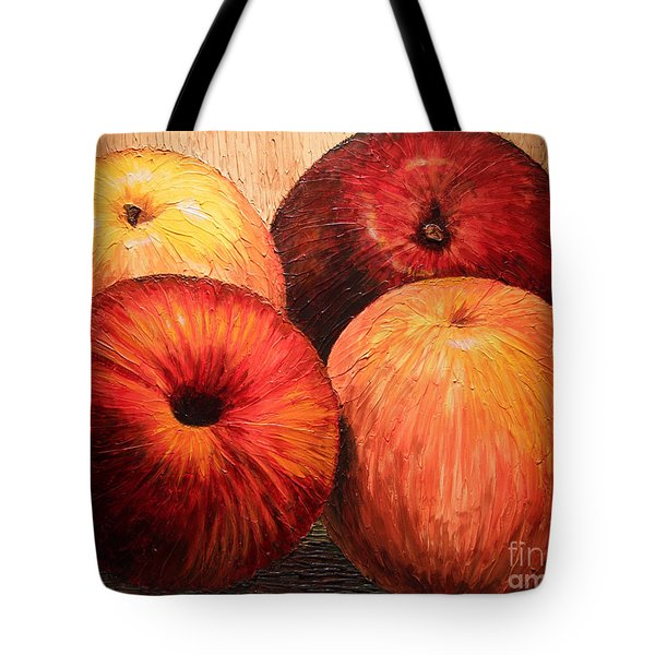 Apples And Oranges Tote Bag by Joey Agbayani