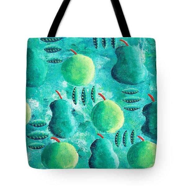 Apples And Pears Tote Bag by Julie Nicholls