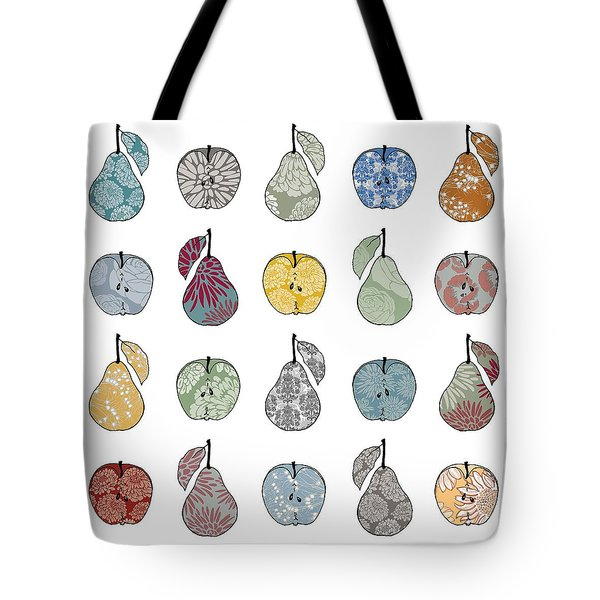 Apples And Pears Tote Bag by Sarah Hough