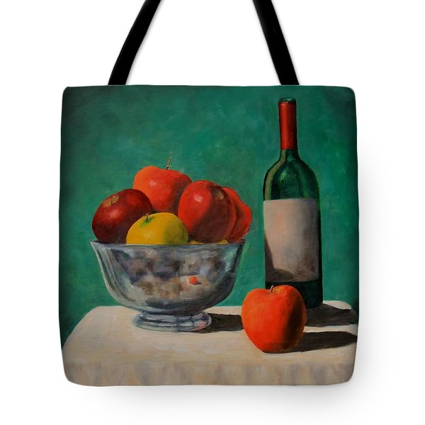 Apples And Wine Tote Bag