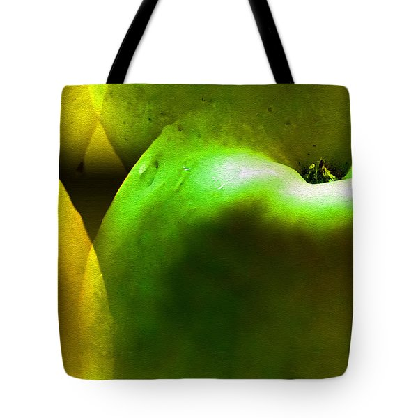 Tote Bag featuring the digital art Apples by Daniel Janda