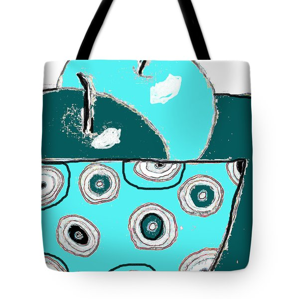 Apples In Spotty Bowl Tote Bag