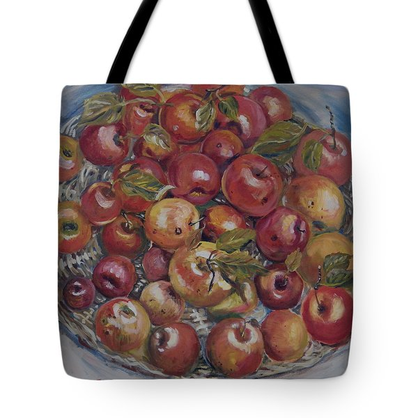 Apples Tote Bag by Alexandra Maria Ethlyn Cheshire