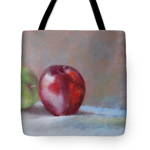 Apples Tote Bag by Nancy Stutes