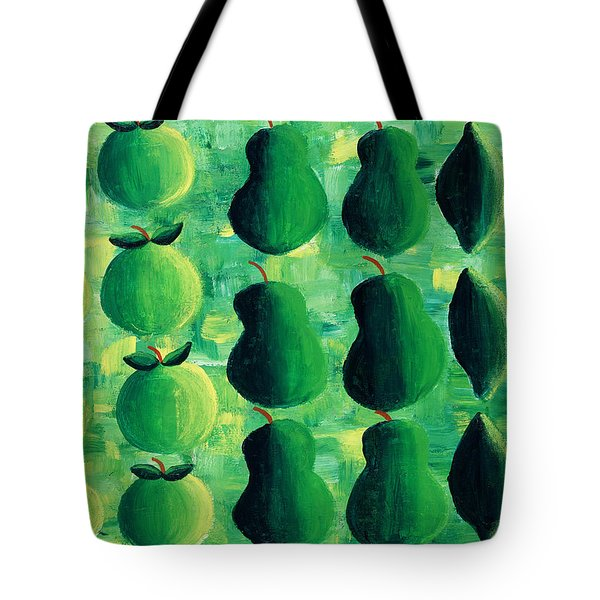 Apples Pears And Limes Tote Bag by Julie Nicholls