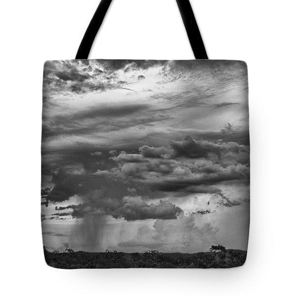 Approaching Storm Black And White Tote Bag by Douglas Barnard