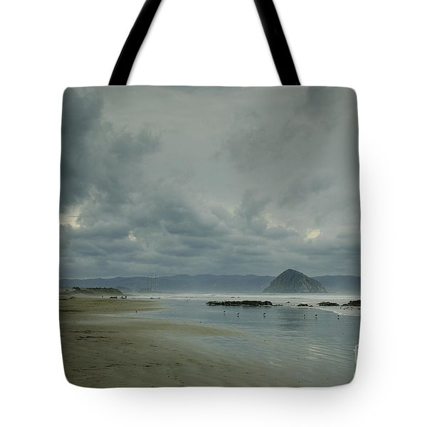 Approaching Storm - Morro Rock Tote Bag