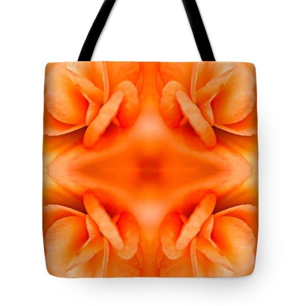 Apricot Begonia Tote Bag by  Onyonet  Photo Studios