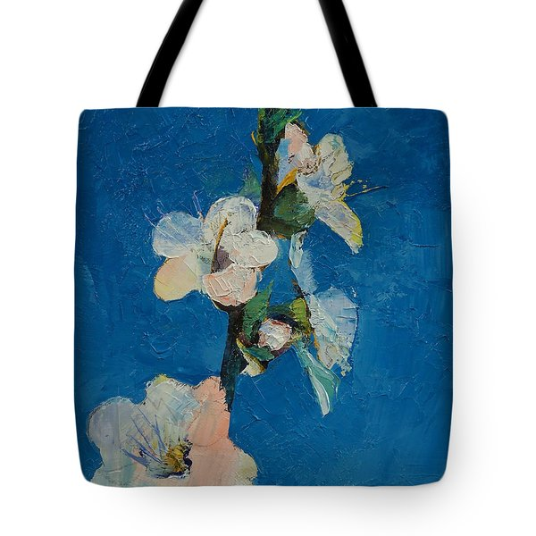 Apricot Blossom Tote Bag by Michael Creese