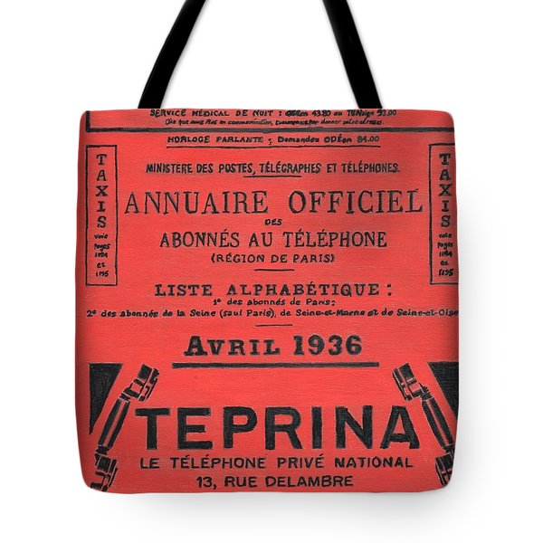 April In Paris 1936 Tote Bag