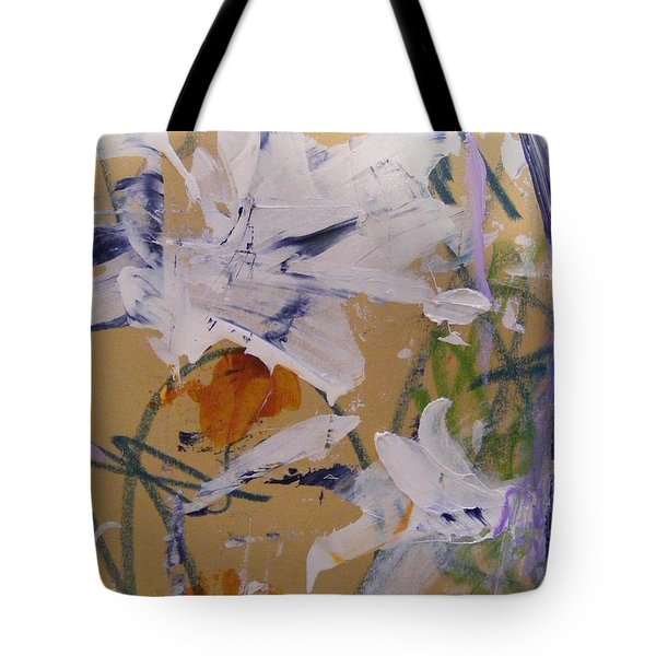 Tote Bag featuring the painting April Showers 1 by Nancy Kane Chapman