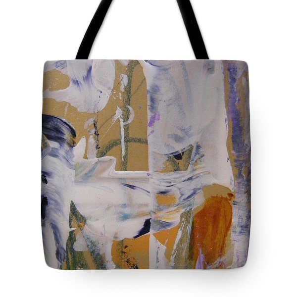 Tote Bag featuring the painting April Showers 2 by Nancy Kane Chapman