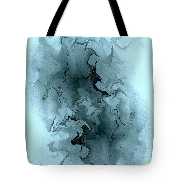 Aqua Abstract Tote Bag by Kae Cheatham