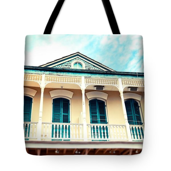 Tote Bag featuring the photograph Aqua And Yellow House by Sylvia Cook