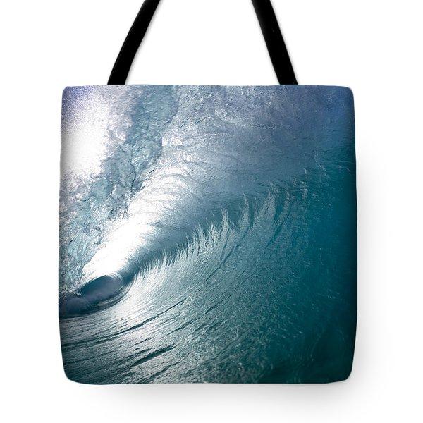 Aqua Curl Tote Bag