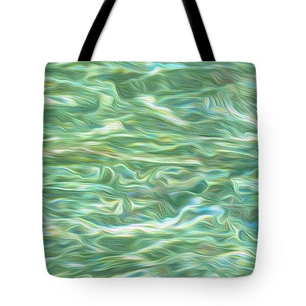 Aqua Green Water Art 2 Tote Bag by Kaye Menner