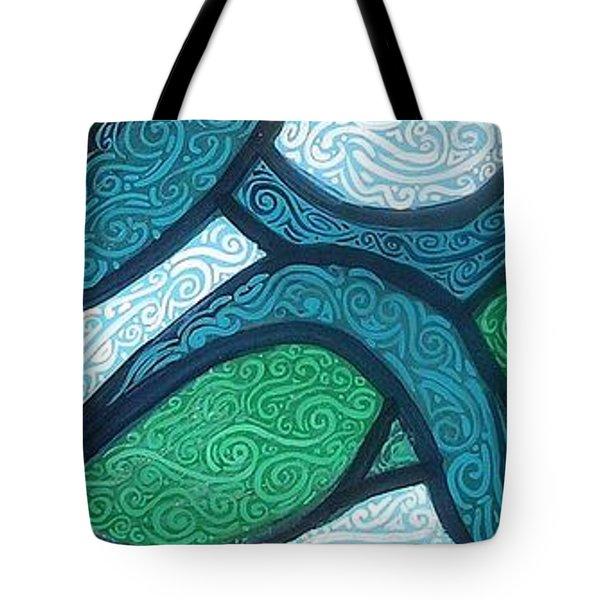 Aqua Motion Tote Bag by Genevieve Esson