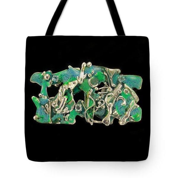 Aqua Reef Tote Bag by Laura Wilson