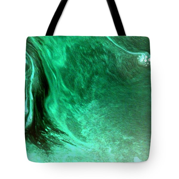 Tote Bag featuring the mixed media Aqua Tree by Salman Ravish