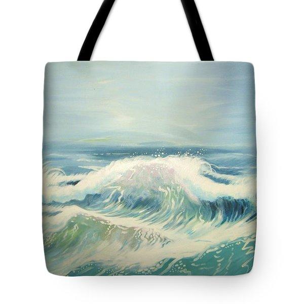 Aqua Sea Scape Tote Bag