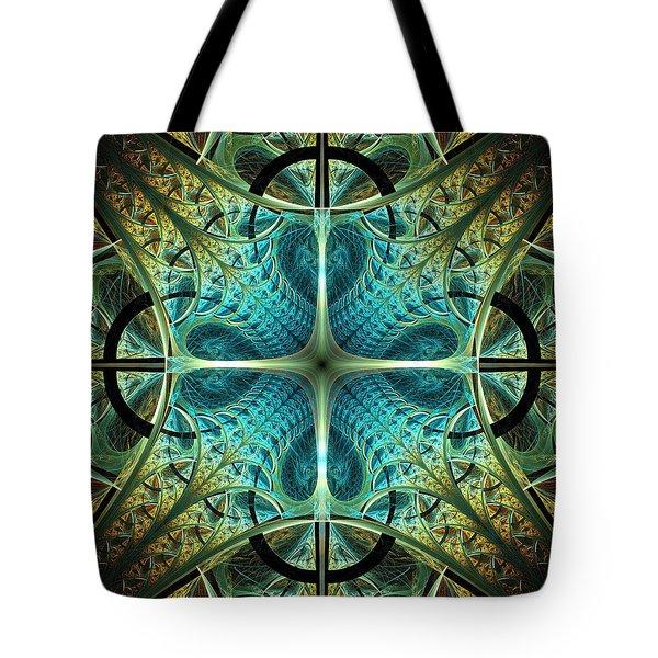 Aqua Shield Tote Bag by Anastasiya Malakhova