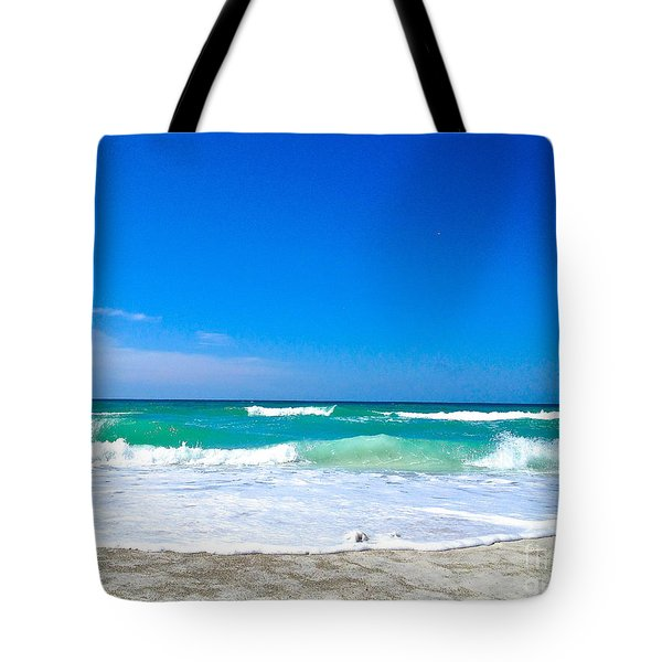 Aqua Surf Tote Bag by Margie Amberge