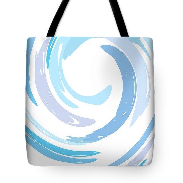 Aqua Swirl Tote Bag by Ps